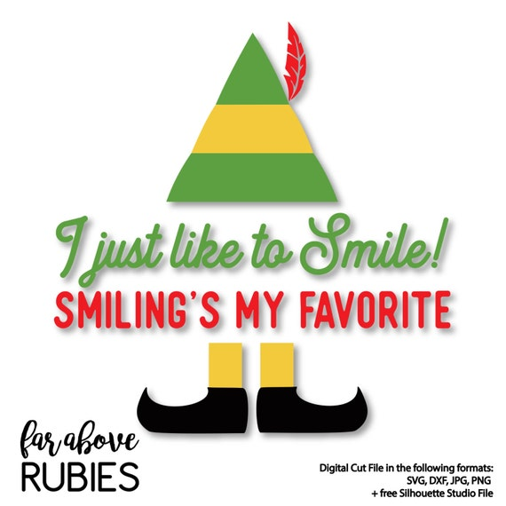 I Just Like To Smile Smilings My Favorite Elf Hat Shoes Etsy