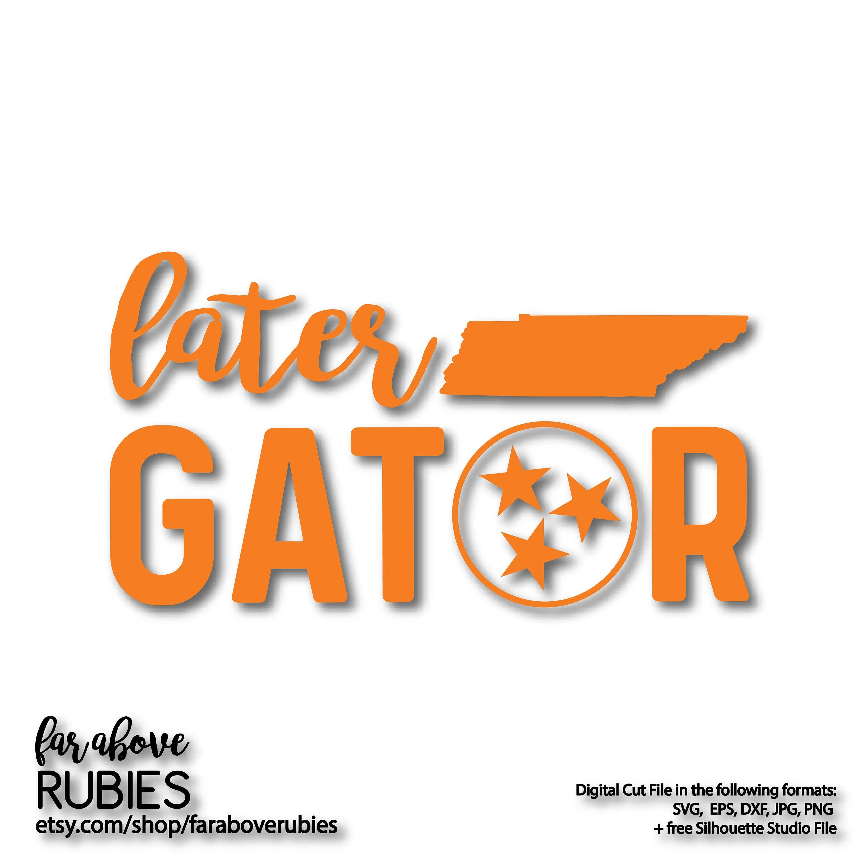 Later Gator Tri Star Tn Tristar Svg Eps Dxf Png Jpg Etsy