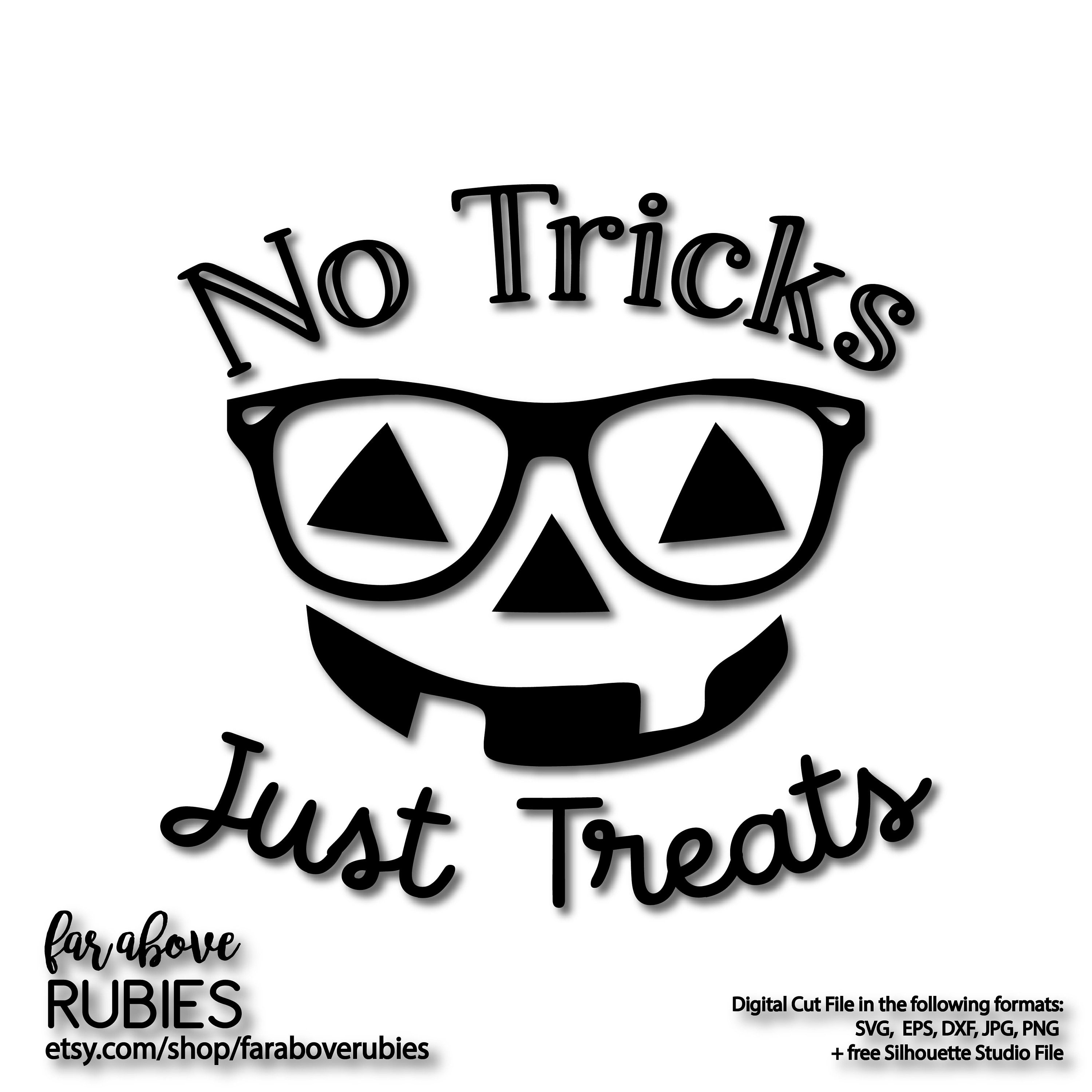 No Tricks Just Treats Pumpkin Face Reading Glasses Jack O Etsy