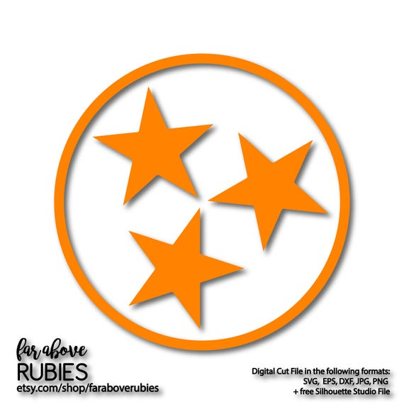 Tristar State Of Tennessee Tn Tri Star Svg Eps Dxf Png Jpg Etsy