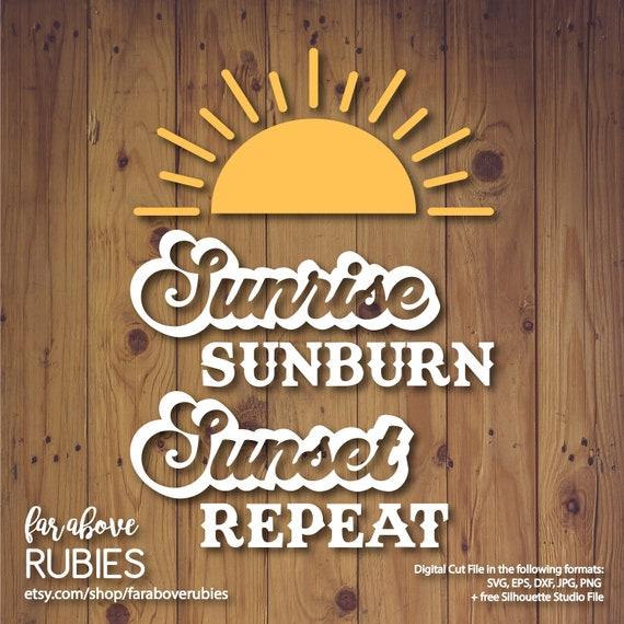 Sunrise Sunburn Sunset Repeat Svg Eps Dxf Png Jpg Digital Etsy