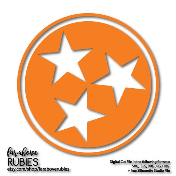 State Of Tennessee Tn Tri Star Tristar Pride Proud Svg Eps Etsy