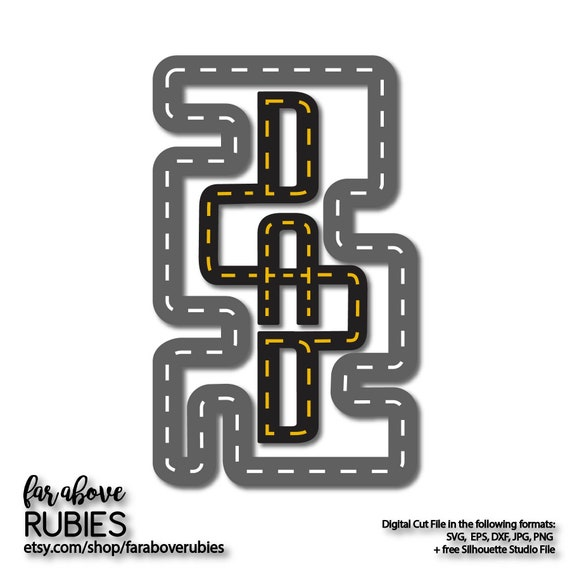 Dad Race Track Father S Day Daddy Svg Eps Dxf Png Jpg Etsy