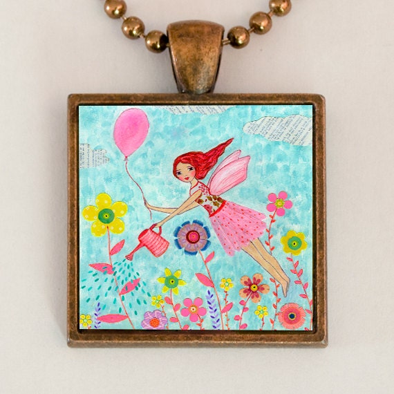 Children Jewelry Flying Fairy Pendant Fairy Necklace Kids Jewelry Girls Jewelry