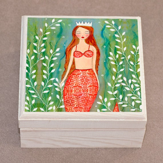 2b1c0c7475b0 Princesa sirena joyero caja de regalo de sirena de ensueño