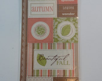 SENIC route PAPER Co. Chipboard - Scrapbook Embellishments - Autumn
