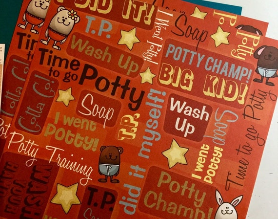 Karen Foster TIME TO POTTY Scrapbook Stickers
