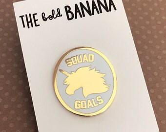Unicorn SQUAD GOALS Enamel Pin