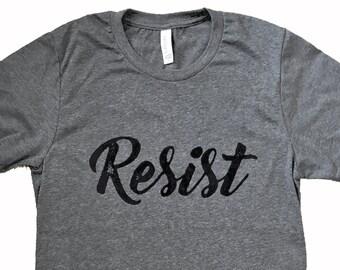 RESIST Politcal Unisex Mens T-Shirt - Sizes S, M, L, XL