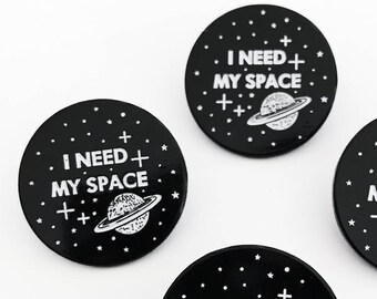 I Need My Space Planet Enamel Pin