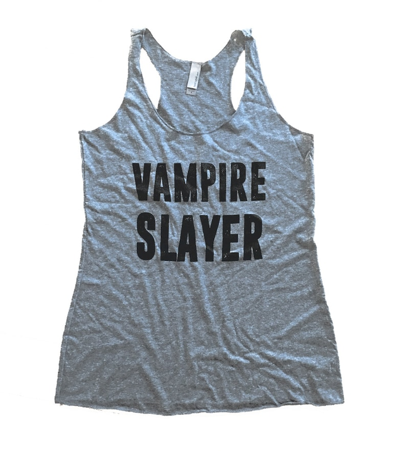 725576f2ab3aa8 Vampire Slayer Tank Top Buffy Sleeveless Shirt Ladies