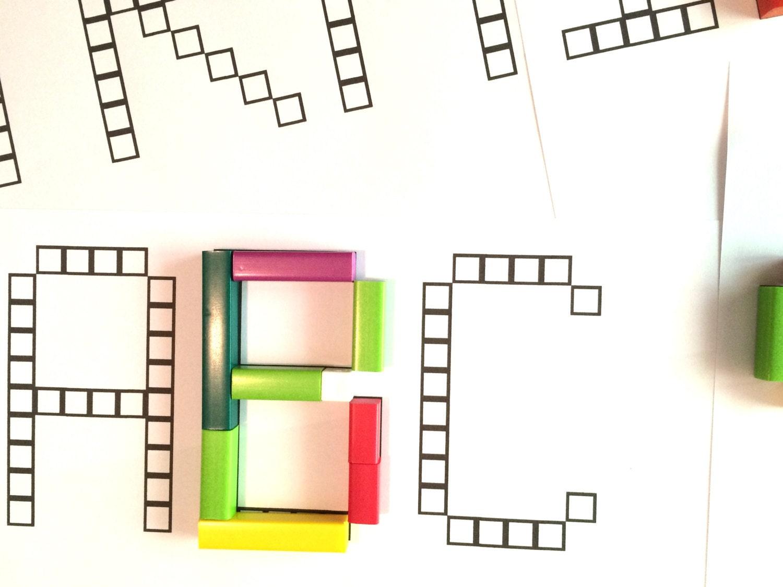 Alphabet Font For Cuisenaire Rods Digital Download Etsy