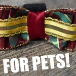 Christmas Bow Tie for Dogs, Cats, Collar Pets - Xmas Holiday Yule Bow