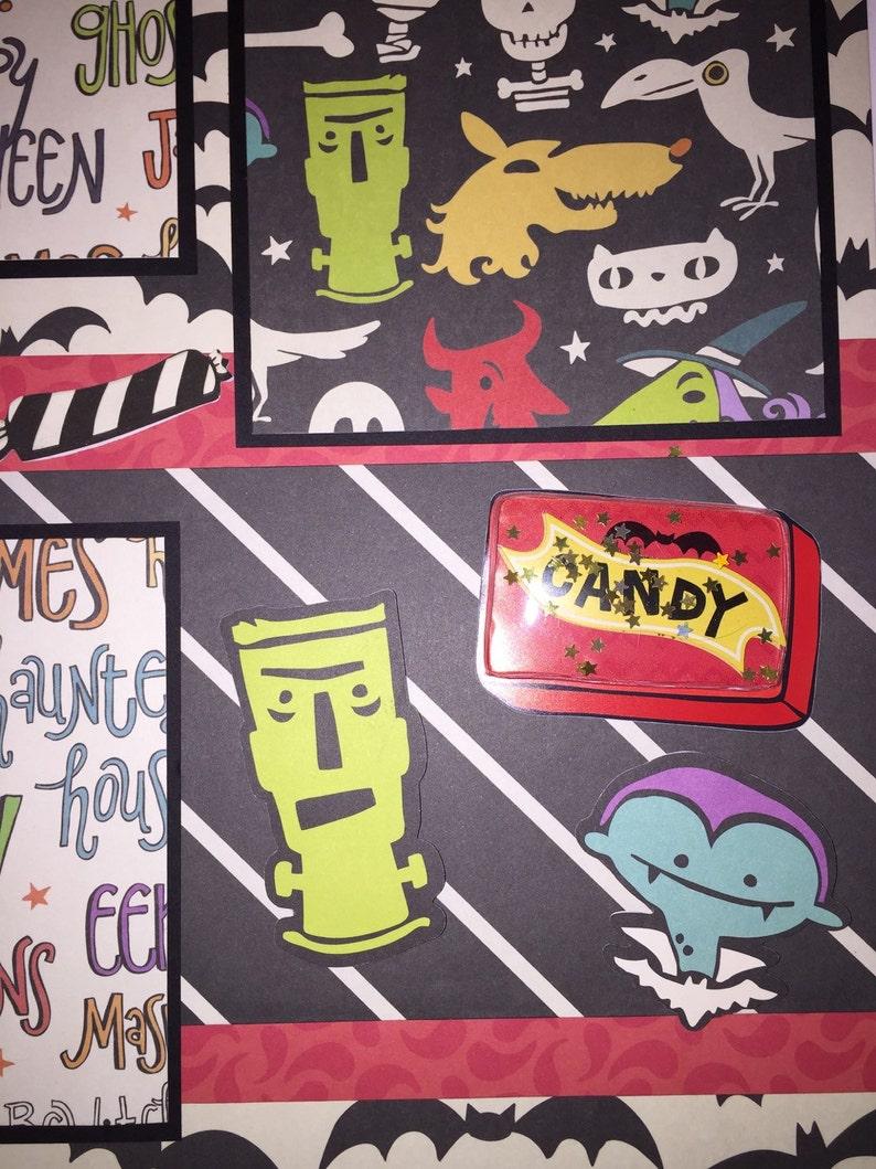 Girl Boy Halloween HALLOWEEN 12 x 12 premade scrapbook layout