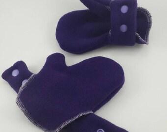 Purple Infant/Toddler Polartec no slip Mittens