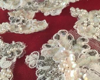 Lace Applique Embellishments Lot #09