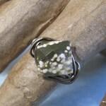 Ocean Jasper Ring, Gift for Woman, Handmade Custom Ring, Diamond Facet Gem Ring, Unique Stone Ring, Custom Sized Ring, Handmade Gifts woman