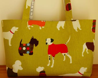 Reversible Dog Tote Shoulder Bag, Dog Lover Bag, Campervan Bag, Shopper, Beach Bag, Everyday Bag, Carry All Bag, Extra Large Tote, Dog Tote