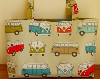 Campervan Tote Bag, Campervan Gifts, Reversible Tote Bag, Dog Tote, Shopper, Beach Bag, Everyday Bag, Large Tote, Camping Bag, Campers Bag