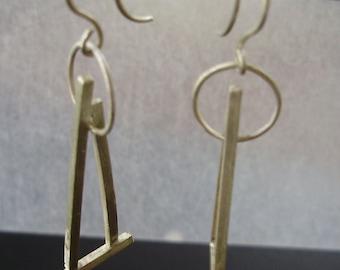 triangular earrings