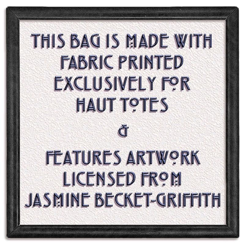 book tote shoulder bag canvas tote Alligator Girl Jasmine Becket Griffith tote bag large purse