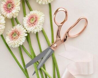 Rose Gold Scissors (Rose Quartz)