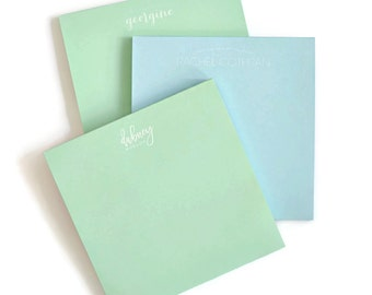 Personalized Pastel Square Note Pad