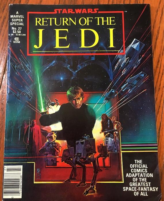Vintage Star Wars Return of the Jedi Magazine 80s Marvel Comics UK Books