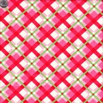 Moda Fabrics Urban Chiks Swell Christmas Plaid in Red and Pink - Half Yard