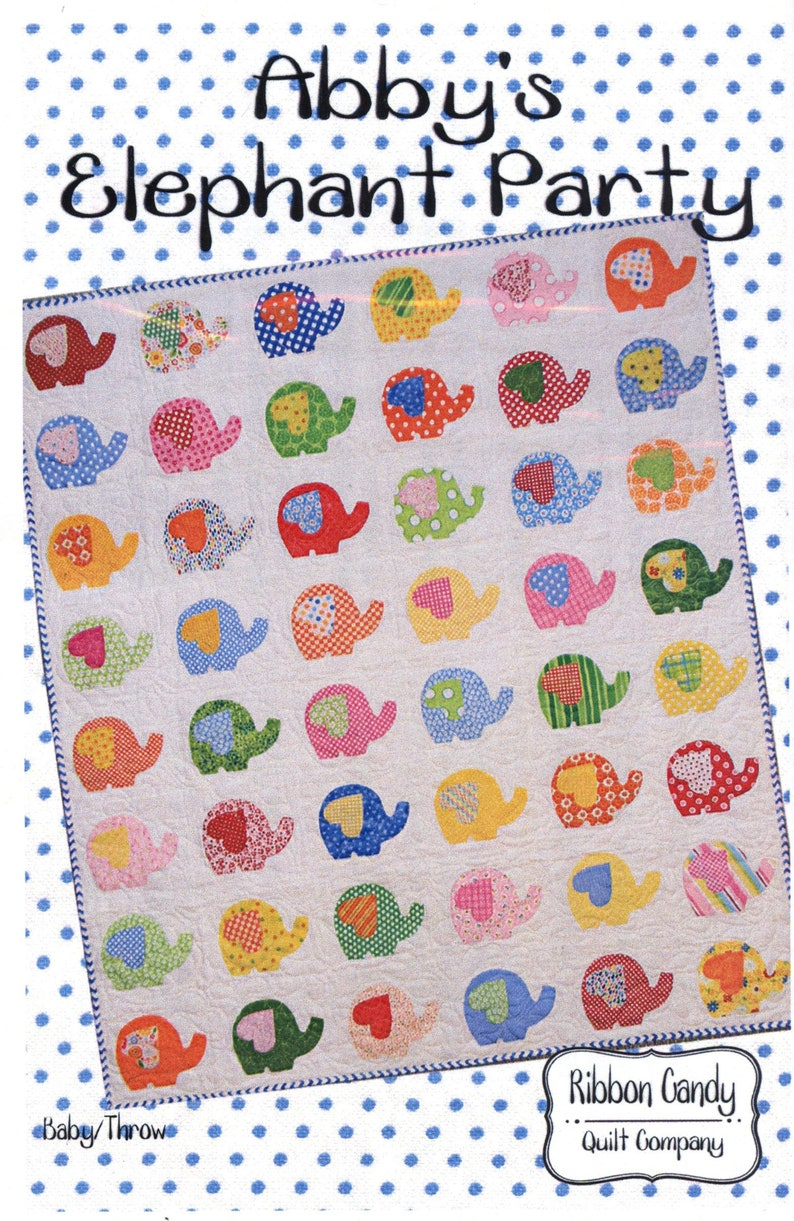 Ribbon Candy Quilt Company Abby's Elephant Party Quilt image 0