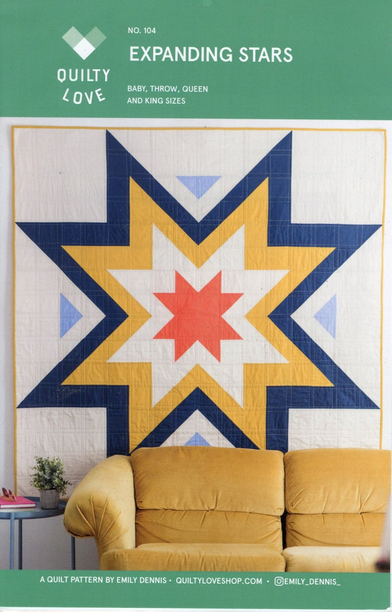 Quilty Love Expanding Stars Quilt Pattern image 0