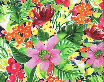 Sold by the Half Yard - August Wren Paradise Found Jungle Floral in Multi - Digitally Printed by Dear Stella Fabrics