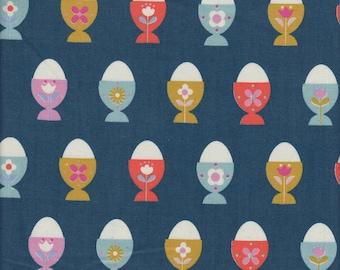 Cotton + Steel Kimberly Kight Welsummer Egg Cups in Navy - Half Yard
