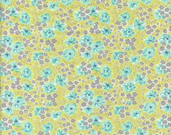 Sold by the Half Yard - Flowers for Freya Roses in Sprout by Moda Fabrics