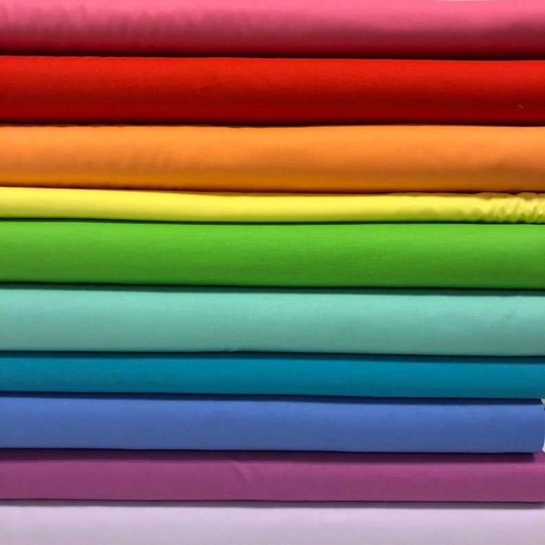 Quilt Sandwich's Rainbow Solid Color Pack  10 Fat image 0