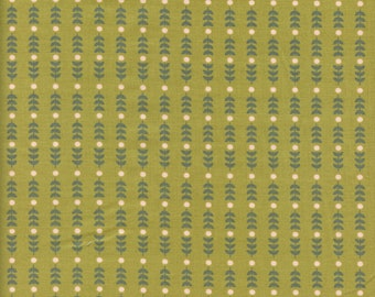 Sold by the Half Yard - Community Stems in Olive by Riley Blake