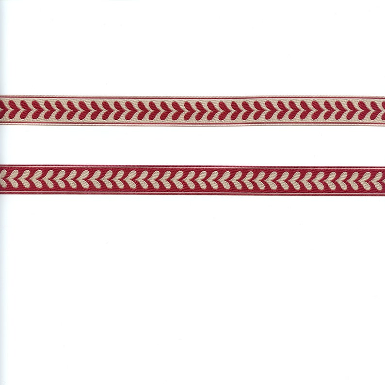 Renaissance Ribbons French General Hearts in Red and Pearl  image 0