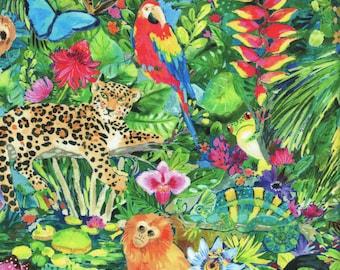 Sold by the Half Yard - August Wren Paradise Found Main in Multi - Digitally Printed by Dear Stella Fabrics