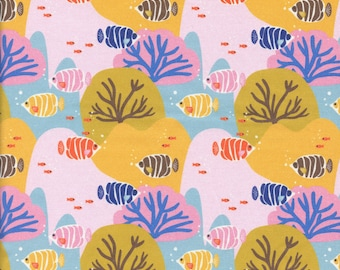 Sold by the Half Yard - Under the Sea Coral Choral by Mable Tan for Paintbrush Studio