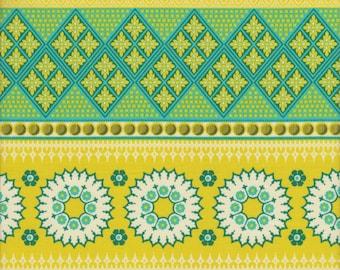 Free Spirit Fabrics Joel Dewberry Notting Hill Banded Bliss in Aquamarine -  Half Yard