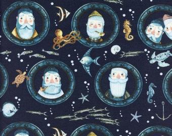 Sold by the Half Yard - Hook, Line, and Sinker in Marlin by Dear Stella Fabrics