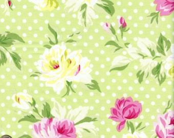 Sold by the Half Yard - Sunshine Sunshine in Green by Tanya Whelan for Clothworks