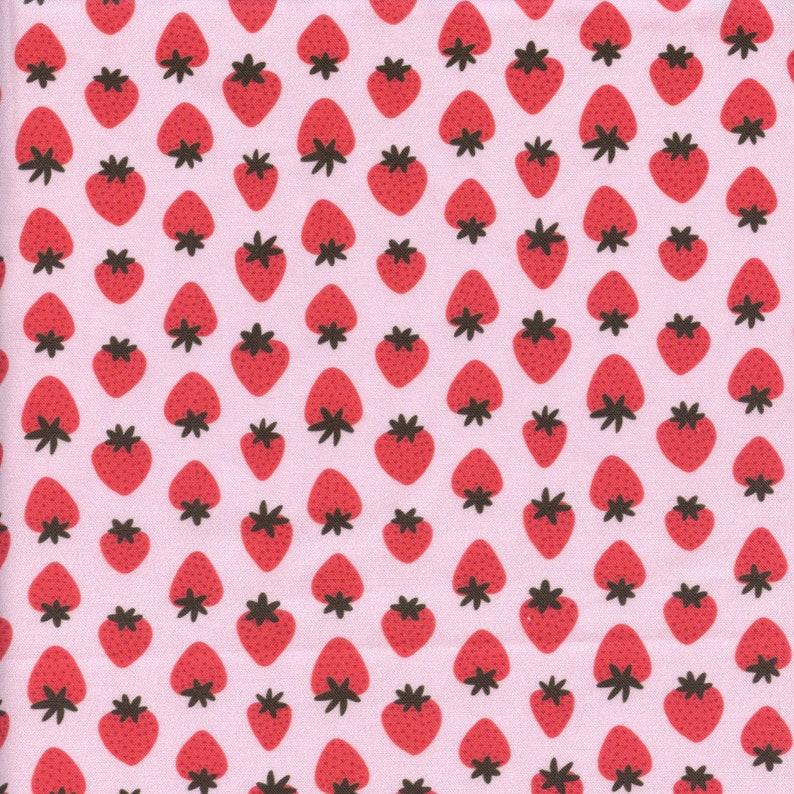 Paintbrush Studio Fruity Strawberry in Pink  Half Yard image 0