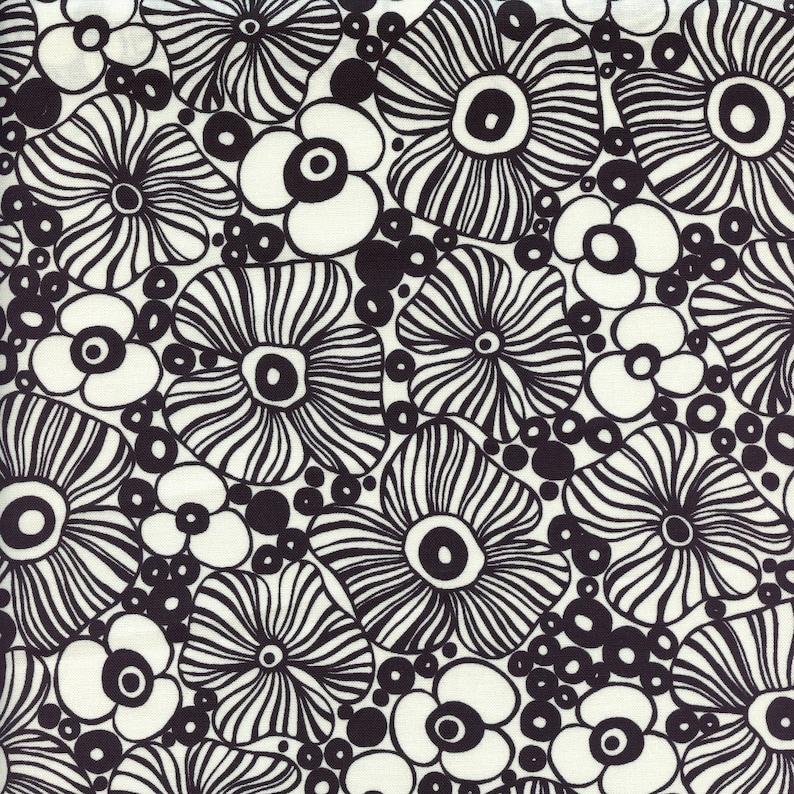 Moda Fabrics Botanica Modern Floral in Black  Half Yard image 0