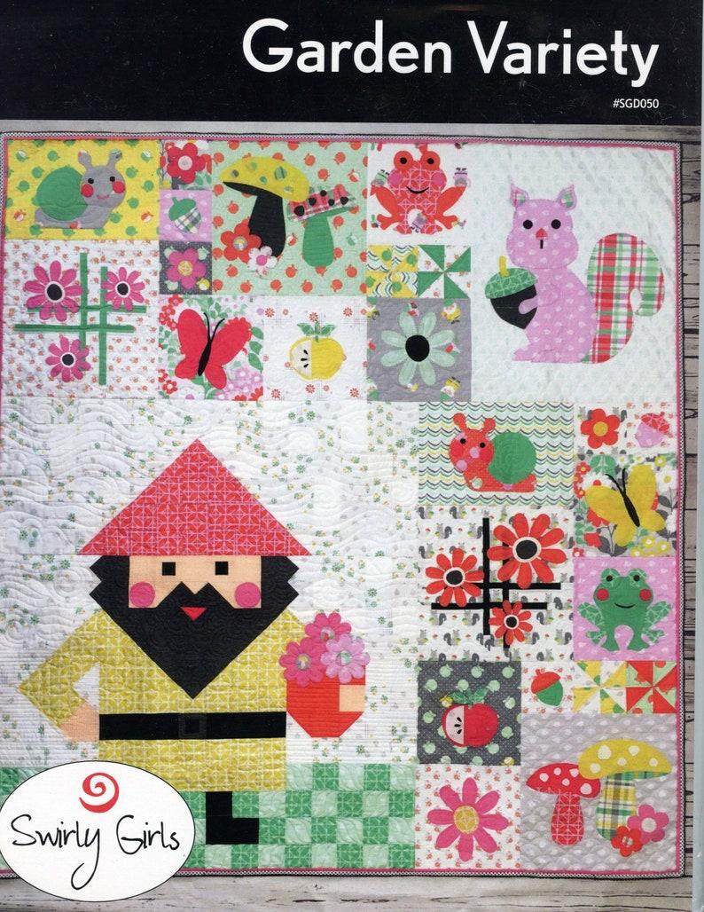 Swirly Girls Garden Variety Quilt Pattern image 0
