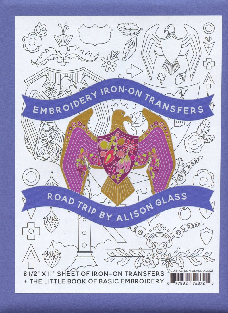 Alison Glass Embroidery Iron-On Transfers  Road Trip image 0