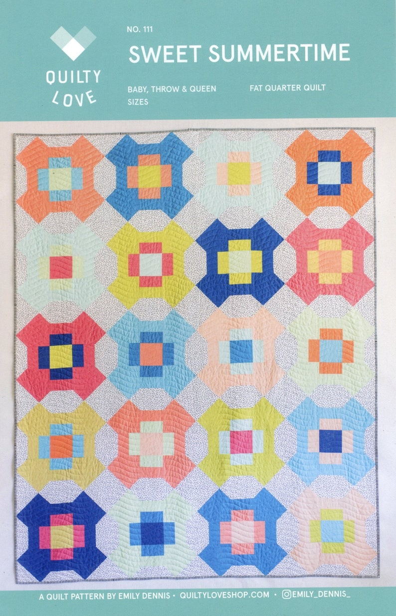 Quilty Love Sweet Summertime Quilt Pattern image 0
