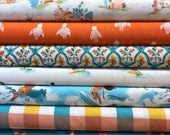Heather Ross Malibu Rye Fat Quarter Set by Windham Fabrics - 8 Fat Quarters