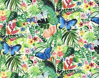 Sold by the Half Yard - August Wren Paradise Found Butterflies in Multi - Digitally Printed by Dear Stella Fabrics