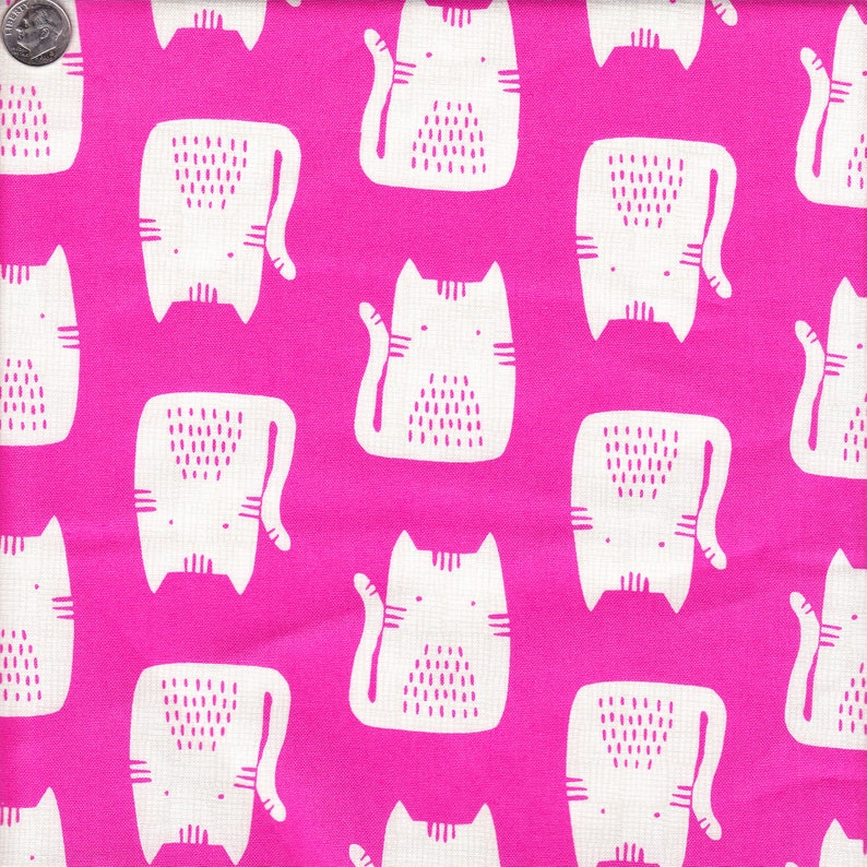 Andover Fabrics Sarah Golden Cats and Dogs Cats in Pink  Half image 0